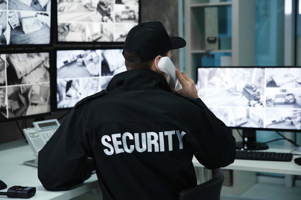 Security-guard-in-room